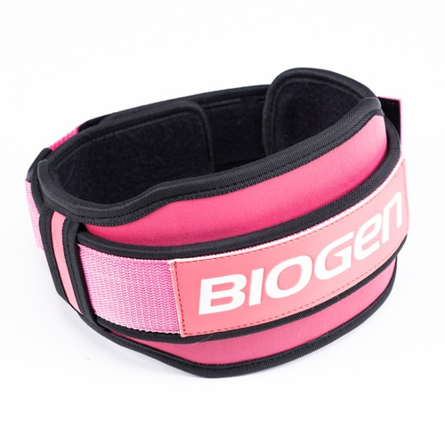 Biogen Pink Neoprene Belt 1   Biogen SA   Neoprene Lifting Belt - Pink