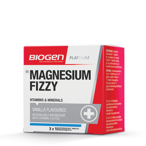 Mag Fizzy | Biogen SA | Magnesium Fizzy Vanilla - 30 Tabs