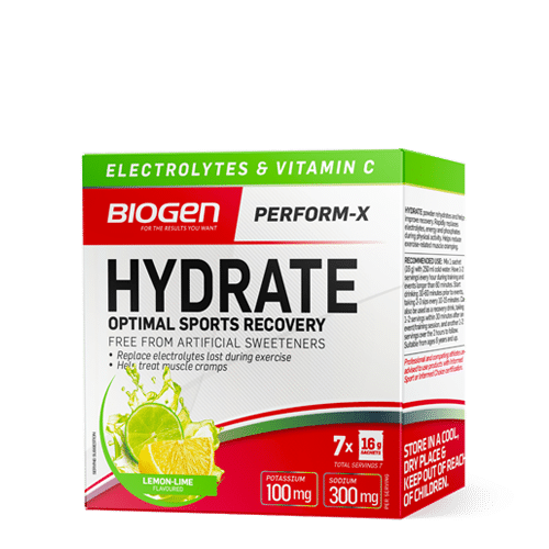 SPORTS HYDRATE 7 X 16G LEMON LIME | Biogen SA | Hydrate - 7 x 16g Sachets