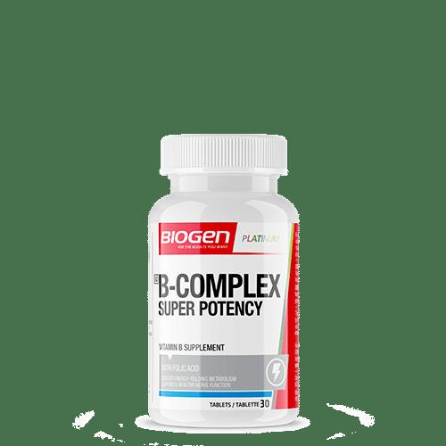b complex super potency 30 copy | Biogen SA | B Complex Super Potency - 30 Caps